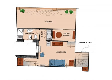 Apartment Florence La Torretta Plan First Floor