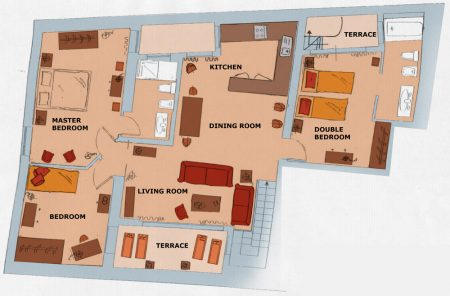 Apartment Florence San Miniato Plan