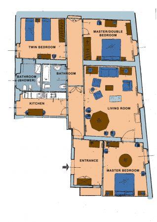 Apartment Florence Vista Uffizzi Gallery Plan